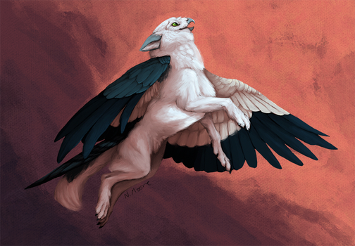 Commission: Wolfgryph by tashcrow