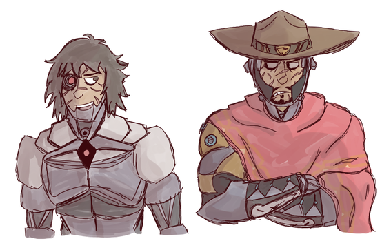 Cyborg Mccrees by Spychedelic