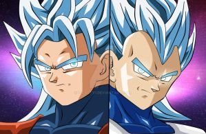 Goku y  Vegeta Super sayayines Definitivos by dicasty1