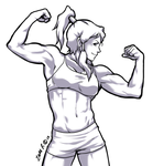 Points commission: Muscle Korra by Rolly-Chan