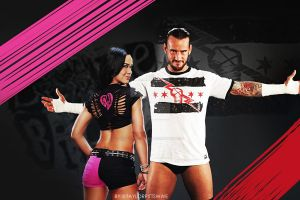 WWE AJ Lee and CM Punk - Wallpaper by taylorpittswwe