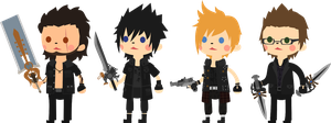 Chibi Chocobros by woodlanduni