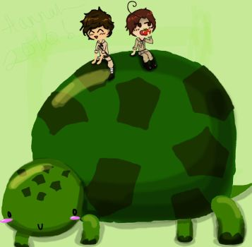 APH: spain + romano's turtle by chipmunkluvr96