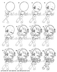 How I draw chibi girl XD by J8d