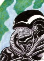 Alien sketch card by The-Standard