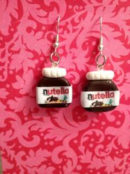 Clay Nutella earrings by ClayForPay
