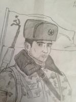 Russian soldier (1980) by Terry2393