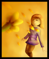 Flowey and Frisk by Spirit36