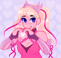 Pink Mercy by Fluffielox