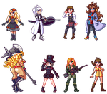 Pixel day - Waifus by Blackhook