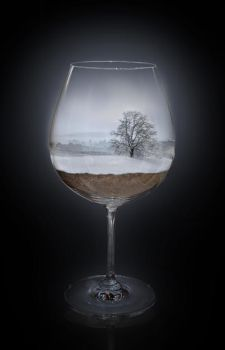 Landscape in a glas - Winter by Sagitarii