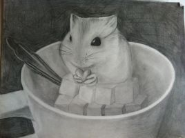 A humster in a mugcup by caoeri