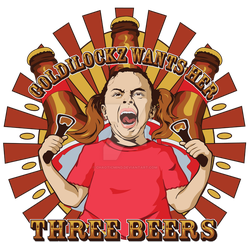 Goldilocks 3 Beers by chaoticmind