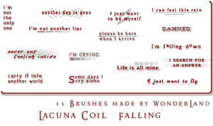 Lacuna Coil - Falling by Foxxie-Chan