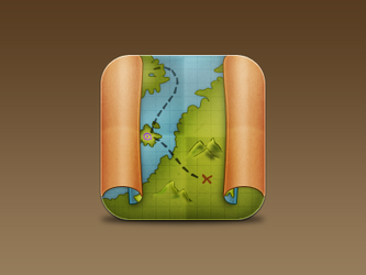 Maps icon - Pirate Map by JackieTran