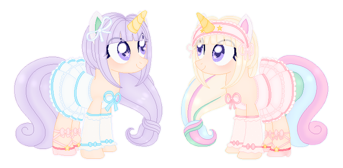 .:Unicorn Fantasy MLP Adopts:. .:CLOSED 0/2:. by FabianaDLCD