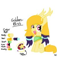 Golden Bliss (Filly OC of Lightning and Goldie) by StarlytheSillyArtist