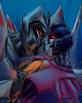 Where the frag have you been, Starscream? by JazzTheTiger