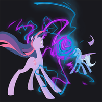 Twilight vs Trixie by Nowler
