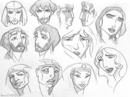 The Prince of Egypt (style study) by RavenDANIELS