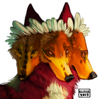 Crown of feathers by Klissie