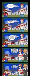 Red and Blue meet Super Mario (Odyssey) by Gabasonian