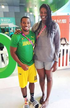 5ft11 Yohan Blake and 6ft5 Aiken by zaratustraelsabio