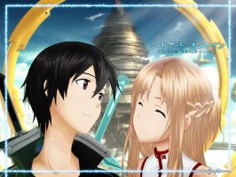 Sword Art Online, Kirito and Asuna by DK168