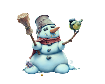 Snowman by leonid-deburger