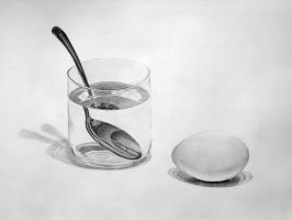 Egg, Glass and Spoon by einai