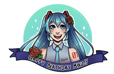 Happy 11th Birthday, Miku! by xTreefin