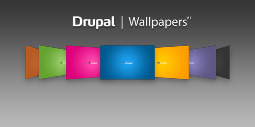 Drupal Wallpapers R1, Dakku by njt1982