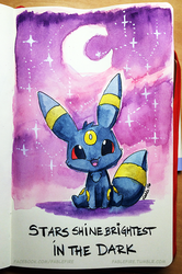 160415 Inspirational Umbreon by fablefire