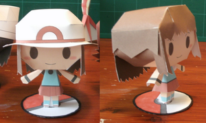 Leaf papercraft template by MountainOfCookies