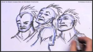 Learn to draw characters in different positions 24 by drawingcourse