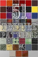 51 Seamless Textile Patterns for Photoshop by xDustyx