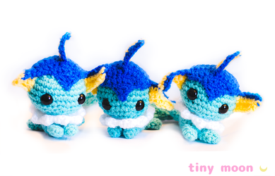 Vaporeon Amigurumi by tiny-moon