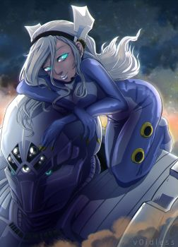 Mecha Gal by v0idless