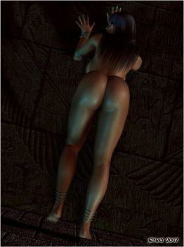 Egyptian Assasin - Against the Wall (Temple Pin-Up by akanay
