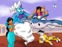 Aladdin and Jasmine's Team by VibaFleischer