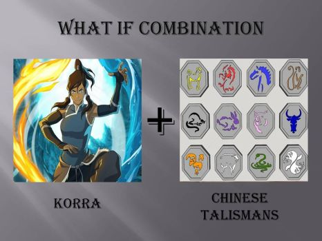 What if Combination Korra+Chinese Talismans by jss2141