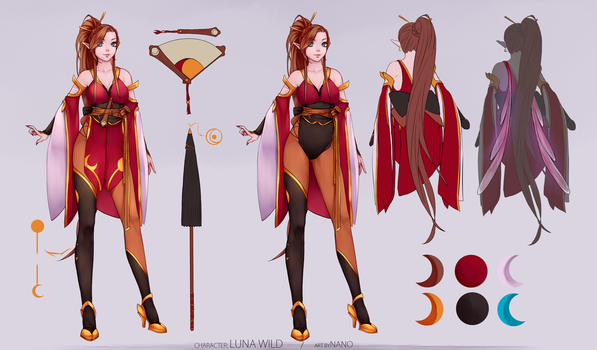 :COMMISSION: Outfit design e reference sheet by dinhoxi