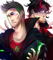 Anti and Dark by Ozumii