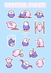 Pepe and Mia Budgie Sticker Sheet by mariskabloom