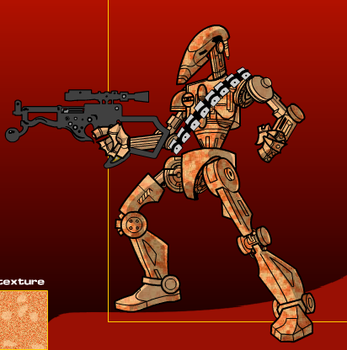 VTY-27 (Rusty) The old battle droid (Star Wars OC) by Evildemon452