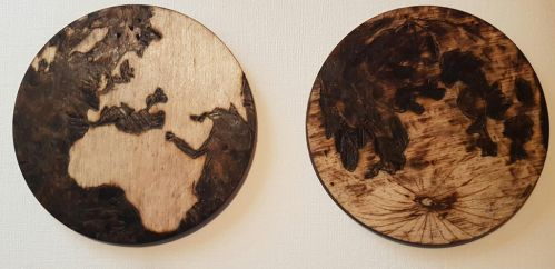 earth and moon pyrography by rainbow-falls