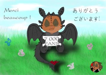 Banniere facebook 7000 fans by Association-AnimEst