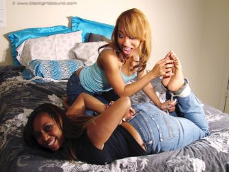Naomi tickled by Danaya by pene4