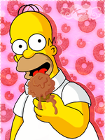 Homer eating an ice-cream by Terrami
