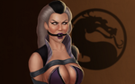 Sindel tied and ball gagged by EyeOnTheDrawings